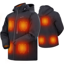 L Men 7.4V  Heated Jacket Electric Heating Windproof Warm Coat 8 Heating Zone