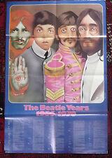 Large double-sided Beatles magazine poster published 1976