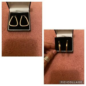 9k Y-gold Earrings,h- Marked,3Grams,gorgeous Designed.Used 2/3Times.Great Condit