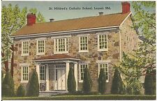 St. Mildred's Catholic School in Laurel MD Postcard