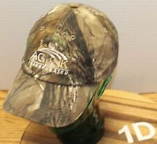 AG LINK INCORPORATED HAT VELCRO STRAP ADJUSTABLE HUNTING CAMO PATTERN VGC