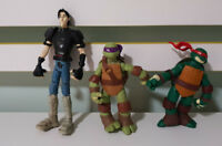 TEENAGE MUTANT NINJA TURTLES FIGURINES TOYS CASEY PURPLE DONATELLO BLUE LEONARDO