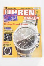 Uhrenmagazin Uhren Magazin 11/2001 November Omega Temption Chronoswiss
