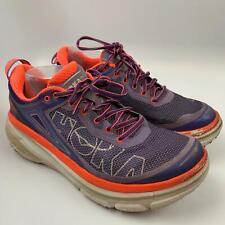 Hoka 10.5 US / 9 UK / 43.5 EU W Women Athletic Walking Shoes Purple Orange W Bon