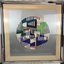 "Yaacov Agam HAND PENCIL SIGNED # Serigraph on Paper Artist's 31""x31"" limited ED"