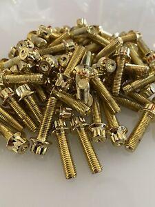 120 x Gold Split Rim Bolts M7 x 24mm BBS RM OZ Wheels
