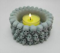 Skull Flowerpot Concrete Mold Baking Resin DIY Chocolate Candle Silicone Mould