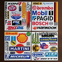 RACING DECAL SET - Nascar - 4x4 - Autocross - Formula 1 - Toolbox Stickers - LOT