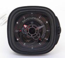 Auth. SevenFriday P Series 21 Jewel Automatic 47mm Mens Watch Box & Docs P3B/01