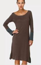 Ian Mosh Unico Liso Dress NWT Artsy Brown Green Ruffled Trim Back Hem Sz 2 Spain