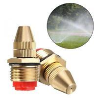 "1/2"" DN15 Adjustable Water Flow Brass Spray Misting Nozzles Garden Spray F5X3"