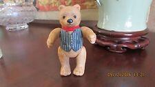 Dept 56 Christmas Ornament Teddy Bear Jointed Ceramic Figurine 1983