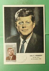 DR WHO 1964 IVORY COAST FDC JOHN F KENNEDY JFK MAXIMUM CARD  g08740