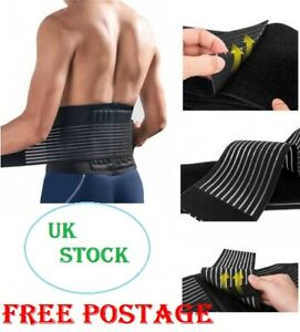 Medical adjustable belt waist lumbar brace straps pain relief LOWER BACK support