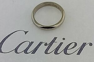 CARTIER 1895 Wedding Band Pt950 Platinum Plain 4.0mm Men's Ring Size 63 USA 10.0