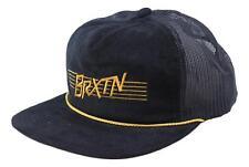 Brixton Mens Hermosa Hp Mesh Snapback Hat Black Size One Size New