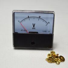 Voltmeter Panel Meter  DC 0-15V— Analog Volt Voltage