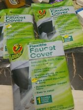 3pc Duck Brand Insulated Soft Flexible Faucet Cover Easy To Install 7.5in 8.75in
