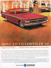 Vintage 1964 Magazine Ad Chrysler Crisp & Handsome Warranted For Five Years