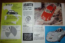 *ARTICOLO  ABARTH 1000 RECORD  E ZAGATO - MASERATI 3500 GT -  1960 (n)