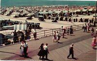 Vintage Postcard - Beach Cabanas & Boardwalk Atlantic City New Jersey NJ #2923