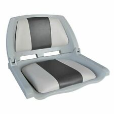 Chair with folding plastic substrate Molded Fold-Down Boat Seat, gray / black...