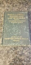 Antique 1915 Saco Lowell Textile Machinery