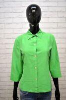 RALPH LAUREN Camicia 100% SETA Donna Taglia M Maglia Manica 3/4 Shirt Woman
