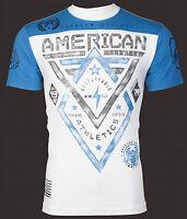 AMERICAN FIGHTER Men T-Shirt ALASKA ARTISAN Athletic WHITE Biker Gym MMA $40
