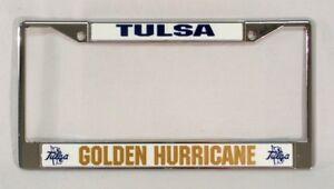 Tulsa Golden Hurricane NCAA Rico Industries  Standard Chrome License Plate Frame