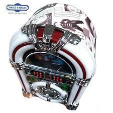 Jukebox CD Player Stereo Led Lights Design Vintage 1950 James Dean FM Bluetooth