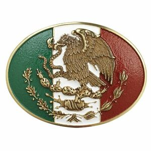 ARIAT OVAL MEXICAN FLAG MEXICO - ACC BUCKLE - A37013