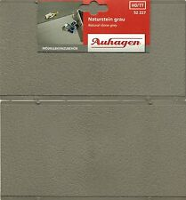 MODEL RAILWAY EMBOSSED PLASTIC SHEET GREY NATURAL STONE x 2 FOR HO SCALE, NEW
