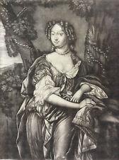 Marie-Anne de Bavière 1660-1690 Dauphine de France Lely Louis XIV sc SCHENK XVII