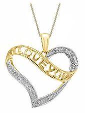 Yellow Gold Heart Fine Diamond Necklaces & Pendants