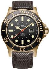 Glycine Men's GL0243 Combat Sub 48 Bronze Automatic 48mm Black Dial Watch