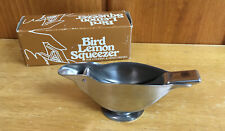 Vintage Bird Lemon Squeezer For Cooking and Mixed Drinks Stainless Steel