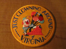 JUST CLOWNING AROUND VIRGINIA Cloth Patch Round Balloon PRO CIRCUS CLOWN Patch