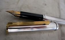 RARE SUPERBE STYLO PLUME PARKER 85 METAL CHROME- FINITION FLORENCE- PLUME OR 18K