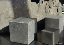 Schungit Würfel Cube org. aus der ZAZHOGINSKIJ MINE! 4cm bis 7cm poliert / un