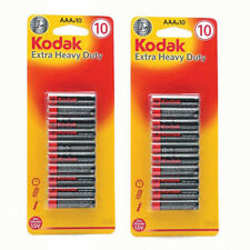 AAA batteries 20 Pack Kodak Extra Heavy Duty For Toy Camera Torch Remote New