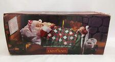 Vintage Grandeur Noel Collectors Edition Sleeping Santa Clause In Bed w Sound