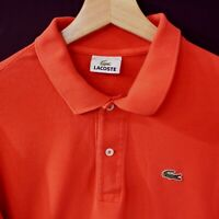 Lacoste Mens Short Sleeve Polo Shirt Size 5 Cotton
