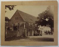 Original Fotografie Gasthof Friedrichswalde bei Pirna um 1890 Sachsen sf