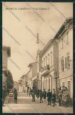 Firenze Borgo San Lorenzo PIEGHINA cartolina EE5991