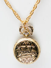 INFINITY: GRANDMA ANTIQUE GOLD FINISH WATCH PENDENT WITH NECKLESS CHAIN