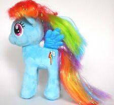 "My Little Pony Sparkle Rainbow Dash 2015 Ty 7"" Plush blue Pegasus stuffed toy"