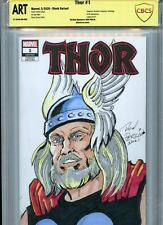 THOR Sketch cover art by DON PERLIN CBCS SS ART not CGC Marvel Avengers