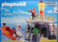 Playmobil US 5626 Leuchtturm Blinklicht Rettungsboot Küstenwache Coastguard NEU
