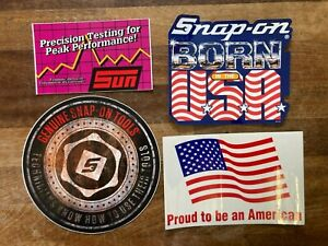 Snap-On Tools Tool Box Sticker Pack x4 Stickers Decal Genuine